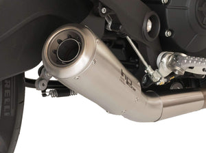 "HP CORSE Ducati Monster 797 Slip-on Exhaust ""GP-07 Satin Short"" (racing; with aluminum ring)"