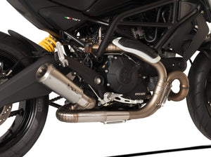 "HP CORSE Ducati Monster 797 Slip-on Exhaust ""GP-07 Satin"" (racing; with aluminum ring)"