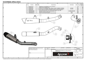 "HP CORSE Aprilia RSV4 R/F Slip-on Exhaust ""Evoxtreme 310 Black"" (EU homologated)"