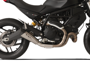 "HP CORSE Ducati Monster 797 Slip-on Exhaust ""Evoxtreme 260 Satin Short"" (racing only)"