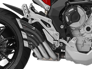 "HP CORSE MV Agusta Turismo Veloce Slip-on Exhaust ""HydroTre Satin"" (carbon cover; EU homologated)"