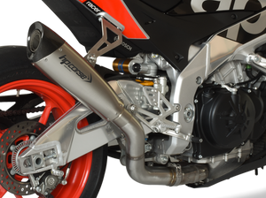 "HP CORSE Aprilia Tuono V4 1100 (2017 – ) Slip-on Exhaust ""Evoxtreme 310 Titanium"" (racing)"