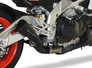 "HP CORSE Aprilia Tuono V4 1100 (2017 – ) Slip-on Exhaust ""Hydroform Corsa Short Black"" (racing)"