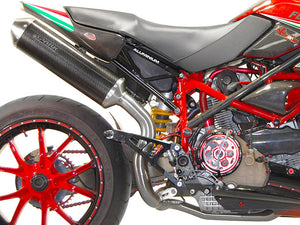 "SPARK Ducati Hypermotard 1100 Slip-on Exhaust ""Oval"" (EU homologated)"