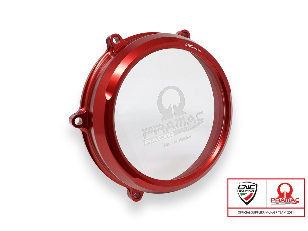 CA210PR - CNC RACING Ducati Panigale V4 Clear Clutch Cover (Pramac edition)