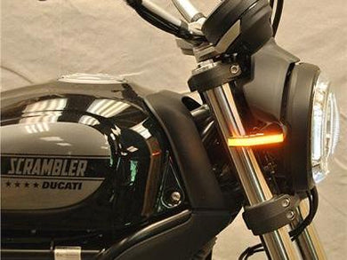 NEW RAGE CYCLES Ducati Scrambler LED Front Turn Signals