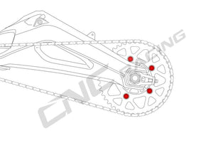 DA386 - CNC RACING Ducati Monster / Panigale Rear Sprocket Nuts (M10x1.0)