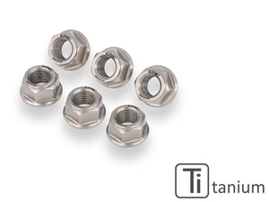 DA387X - CNC RACING Ducati Titanium Gear Ring Nuts set (M10x1.25)