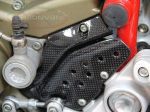 CARBONVANI Ducati Hypermotard 1100 Carbon Front Sprocket Cover / Chain Plate Kit