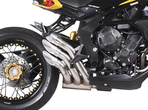 "QD EXHAUST MV Agusta Dragster 800/RR Triple Slip-on Exhaust ""Power Gun"" (silver; Euro 3 homologated)"