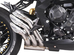 "QD EXHAUST MV Agusta F3 800 / Dragster 800 ""Power Gun"" Triple Slip-on Exhaust (Euro 4 homologated)"