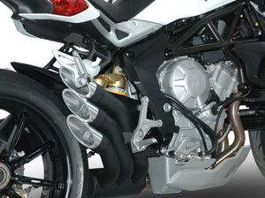 "QD EXHAUST MV Agusta Dragster 800/RR Triple Slip-on Exhaust ""Power Gun"" (black; Euro 3 homologated)"