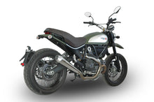 "QD EXHAUST Ducati Scrambler 800 Full Exhaust System ""MaXcone"" (low mount, polished; EU homologated)"