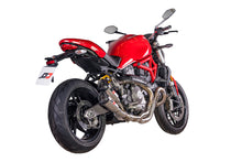 "QD EXHAUST Ducati Monster 821 Dual Slip-on Exhaust ""Gunshot"" (EU homologated)"
