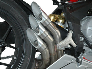 "QD EXHAUST MV Agusta F3 800/675 ""Power Gun"" Triple Slip-on Exhaust (Euro 3 homologated)"