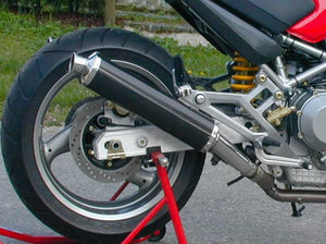 "SPARK Ducati Monster Low Position Slip-on Exhaust ""Round"" (EU homologated)"