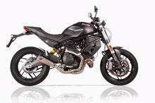 "QD EXHAUST Ducati Monster 797 Semi-Full Exhaust System ""Tri-cone"" (Silencer + Link Pipe)"