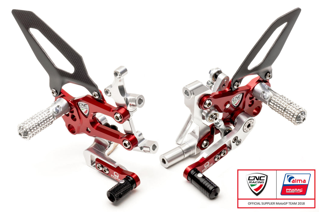 PE400PR - CNC RACING Ducati Panigale V2 Adjustable Rearset (Pramac Racing Limited Edition)