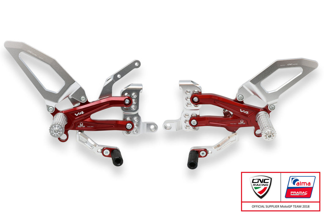 PE407PR - CNC RACING Ducati Panigale V4 Adjustable Rearset