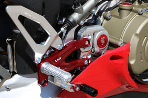 "PE407PR - CNC RACING Ducati Panigale V4 Adjustable Rearset ""Easy"" (Pramac Racing Limited Edition)"