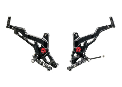 PE440 - CNC RACING Ducati Monster 1200/821 Adjustable Rearset (Sport)