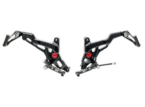 PE441 - CNC RACING Ducati Monster 1200/821 Adjustable Rearset (Touring)