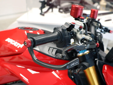 PL150 - CNC RACING Ducati / MV Agusta Carbon Racing Brake Lever Guard (including Ø 13-20 mm adapter)