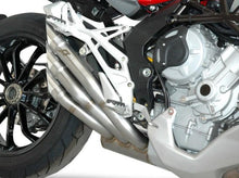 "QD EXHAUST MV Agusta Turismo Veloce Triple Slip-on Exhaust ""Power Gun"" (silver; EU homologated)"