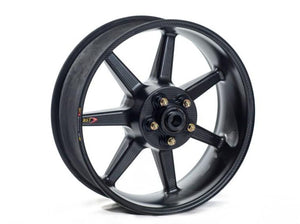 "BST Ducati Panigale 899 / 959 Carbon Wheel ""Mamba TEK"" (conventional rear, 7 straight spokes, black hubs)"