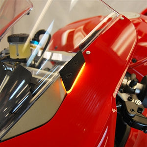 NEW RAGE CYCLES Ducati Panigale V4 LED Mirror Block-off Turn Signals