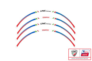 WK002/3 - CNC RACING Pramac Racing Limited Edition Wheel Stripes kit (17'')