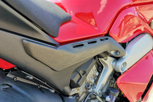 ZA863 - CNC RACING Ducati Panigale V4 Carbon Rear Subframe (Under Seat) Covers