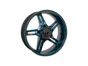 "BST Ducati Superbike 848 Carbon Wheel ""Rapid TEK"" (offset rear, 5 slanted spokes, black hubs)"