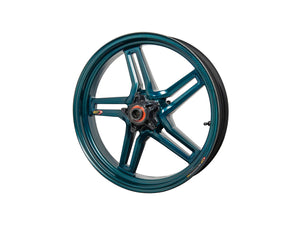 "BST Ducati Monster 821 Carbon Wheel ""Rapid TEK"" (front, 5 slanted spokes, black hubs)"