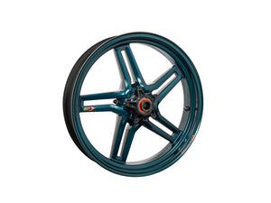 "BST Ducati Superbike 848 Carbon Wheel ""Rapid TEK"" (front, 5 slanted spokes, black hubs)"
