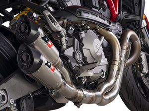 "QD EXHAUST Ducati Monster 821 ""Gunshot"" Dual Slip-on Exhaust (EU homologated)"