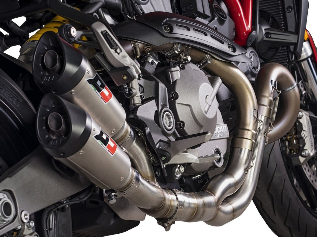 QD EXHAUST Ducati Monster 821 Dual Slip-on Exhaust