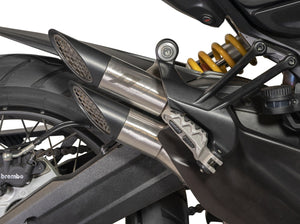 "QD EXHAUST Ducati Multistrada 950 / 1200 Enduro Slip-on Exhaust ""Power Gun"" (EU homologated)"