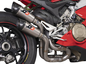 "QD EXHAUST Ducati Panigale V4 ""Gunshot"" Twin Exhaust System (EU homologated)"