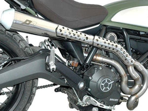 "QD EXHAUST Ducati Scrambler 800 ""MaXcone"" High Level Exhaust System (EU homologated)"