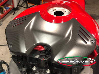 CARBONVANI Ducati Panigale V4 Carbon Tank Battery Cover (DP version)