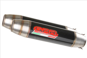 "GPR Ducati Monster 1100 Dual Slip-on Exhaust ""Deeptone Carbon"" (EU homologated)"