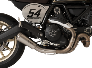 "HP CORSE Ducati Scrambler 800 Slip-on Exhaust ""GP-07 Satin"" (EU homologated; with aluminum end-cap)"