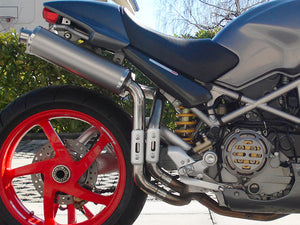 "SPARK Ducati Monster S2R / S4R High Position Slip-on Exhaust ""Round"" (EU homologated)"