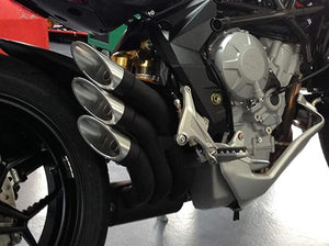 "QD EXHAUST MV Agusta Turismo Veloce Triple Slip-on Exhaust ""Power Gun"" (black; EU homologated)"