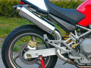 "SPARK Ducati Monster High Position Slip-on Exhaust ""Round"" (EU homologated; steel)"