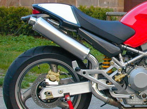 "SPARK Ducati Monster High Position Slip-on Exhaust ""Round"" (EU homologated; titanium)"