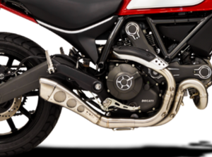 "HP CORSE Ducati Scrambler 800 Slip-on Exhaust ""Hydroform Satin"" (EU homologated)"