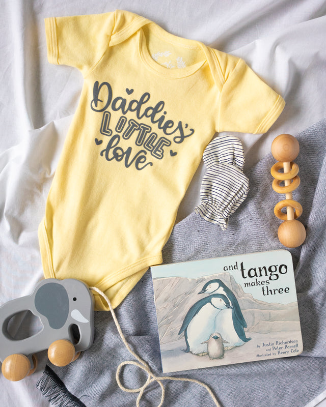 Specially Printed Daddies Little Love - Butter Yellow | PeaTree