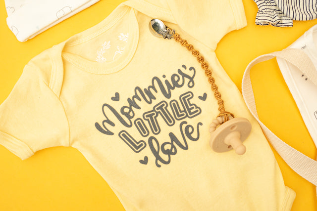 Specially Printed Mommies Little Love - Butter Yellow - PeaTree